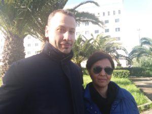 Nella foto mamma Lucia e l'avvocato della famiglia Gianluca Caruso
