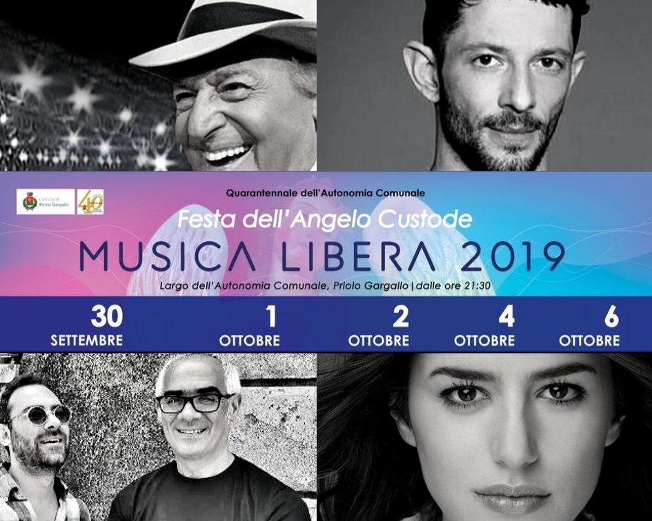 """""""Musica Libera"""" 2019 a Priolo Gargallo, attesi grandi artisti dal 30 settembre al 6 ottobre - OraNews.net - Ora news"""